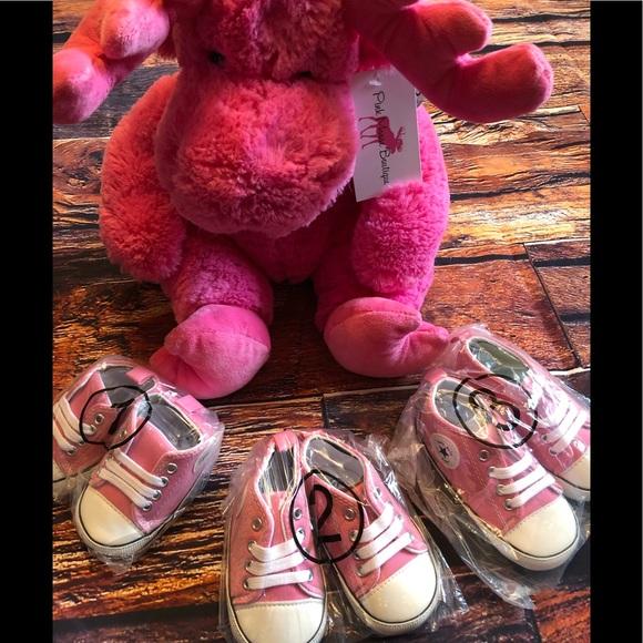 Baby Toddler Pink Lace-up Hightop Prewalker Shoes